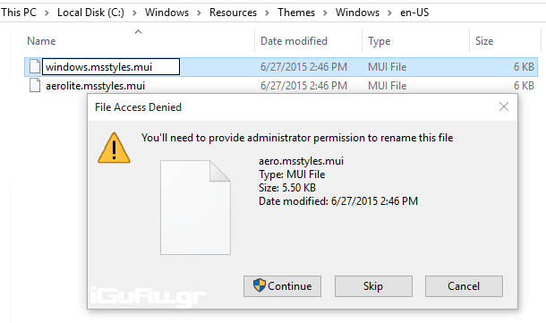 aero rnm Windows 10